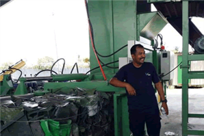 Heavy Duty Semi Automatic Balers for Pressing PET Bottles