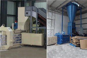 Automatic Balers with Cyclone for Corrugated Packaging Plants